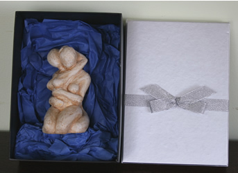 lesbian sculpture giftwrapped